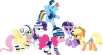 Mane Six Super Bowl Cheer