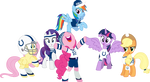 Mane Six Super Bowl Cheer 2