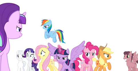 Mane Six Vs. The Smiling Cult by Jeatz-Axl