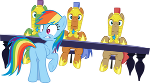 Rainbow Dash and Royal Guards Interrupted