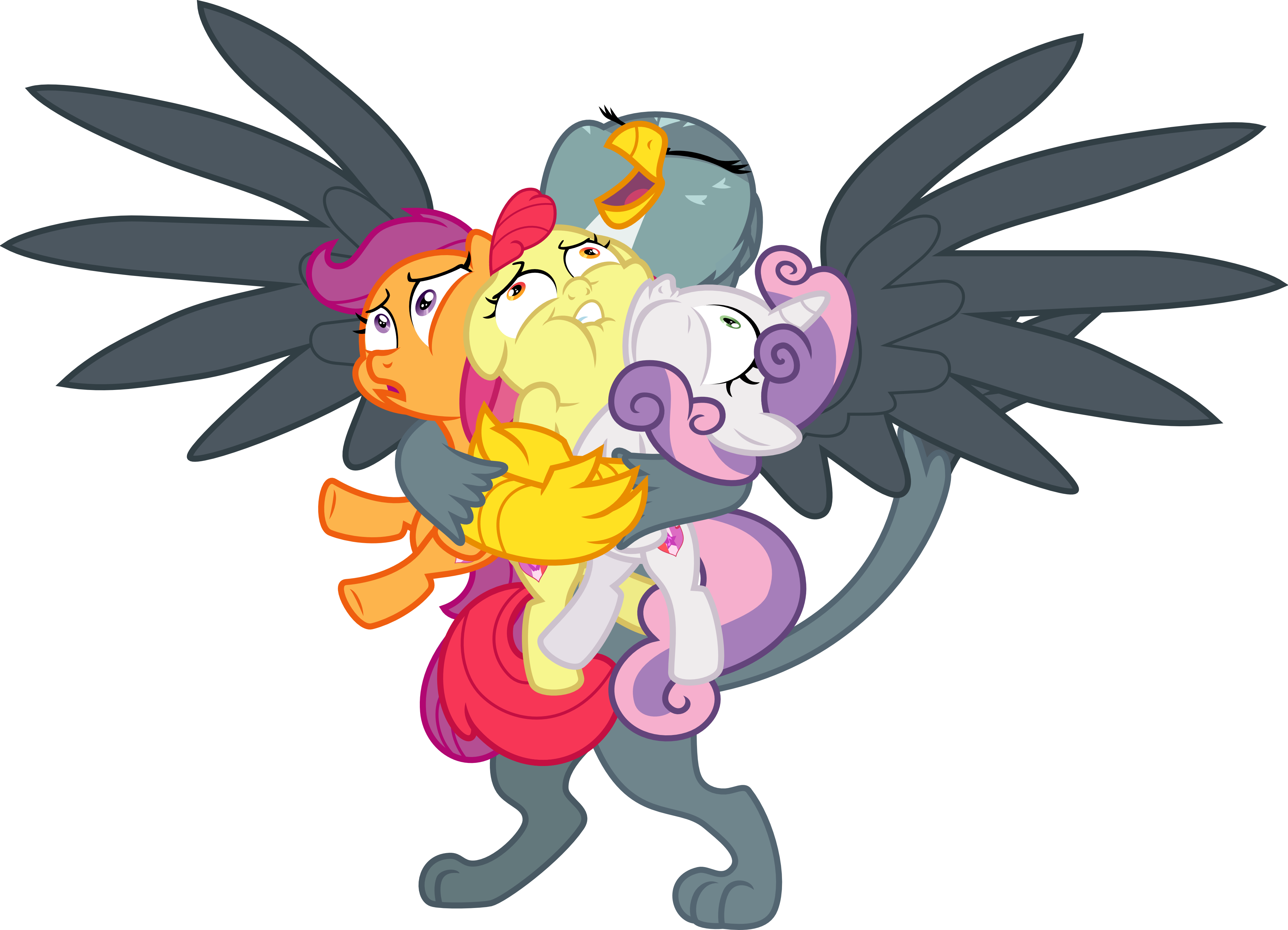 Gabby Hugs the CMC by Jeatz-Axl