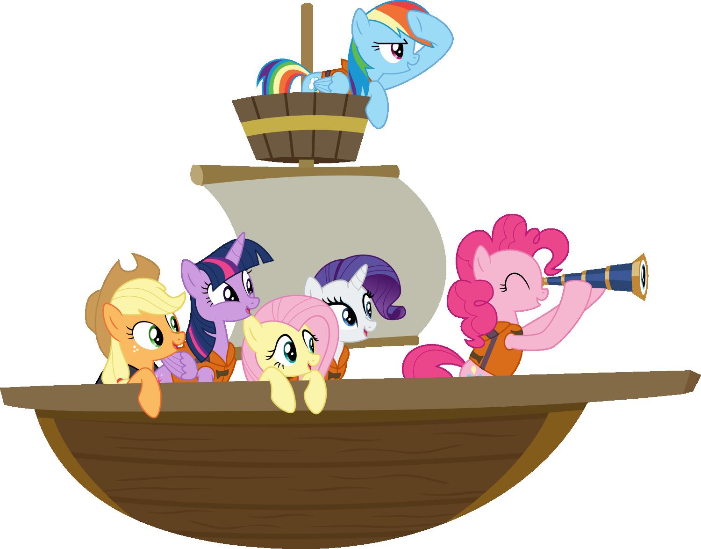 Mane Six On A Boat