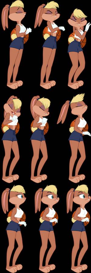 Lola Bunny Vector Set 3