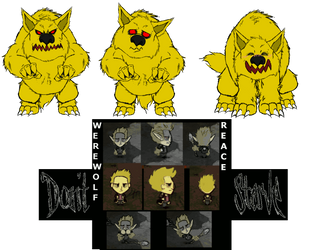 Don't starve werewolf Reace by petplayer976