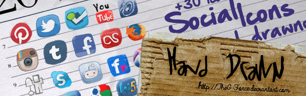 Social Icons hand drawned by TheG-Force