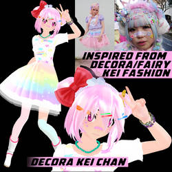 (MMD) Decora Chan +DL by YumiNaoChan