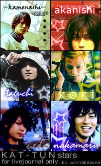 LJ Icons KAT-TUN stars by uchihakitsune