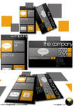 metro inspires business card template