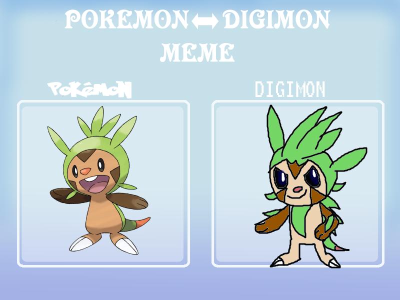 Pokemon Digimon meme: Chespin by Jason5432