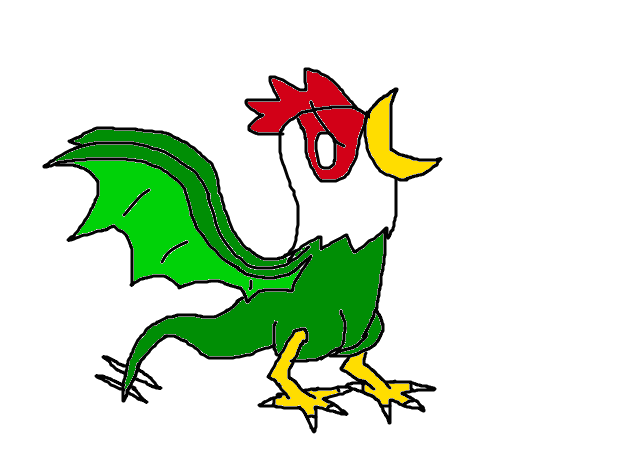 Mythical Creature drawing: Cockatrice by Jason5432