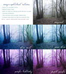 Blue and Purple Nature Photoshop Actions