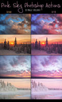 Pink Sky Photoshop Actions