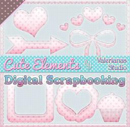 Cute Elements Mini Set Valerianas Studio by ValerianaSTOCK