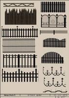 MangaStudio5/ClipStudioPaint 15 Fence Brushes by CyART-CiprianFlorea