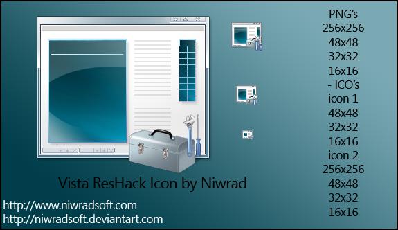 Vista ResHack Icon by Niwradsoft