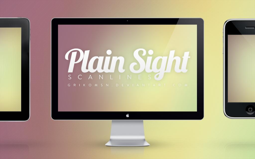 Plain Sight Scanlines by grikomsn