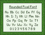 Rounded Pixel Font