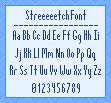 Streeeeetch Font by stuck-in-suburbia