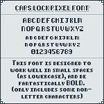 CAPS LOCK Pixel Font