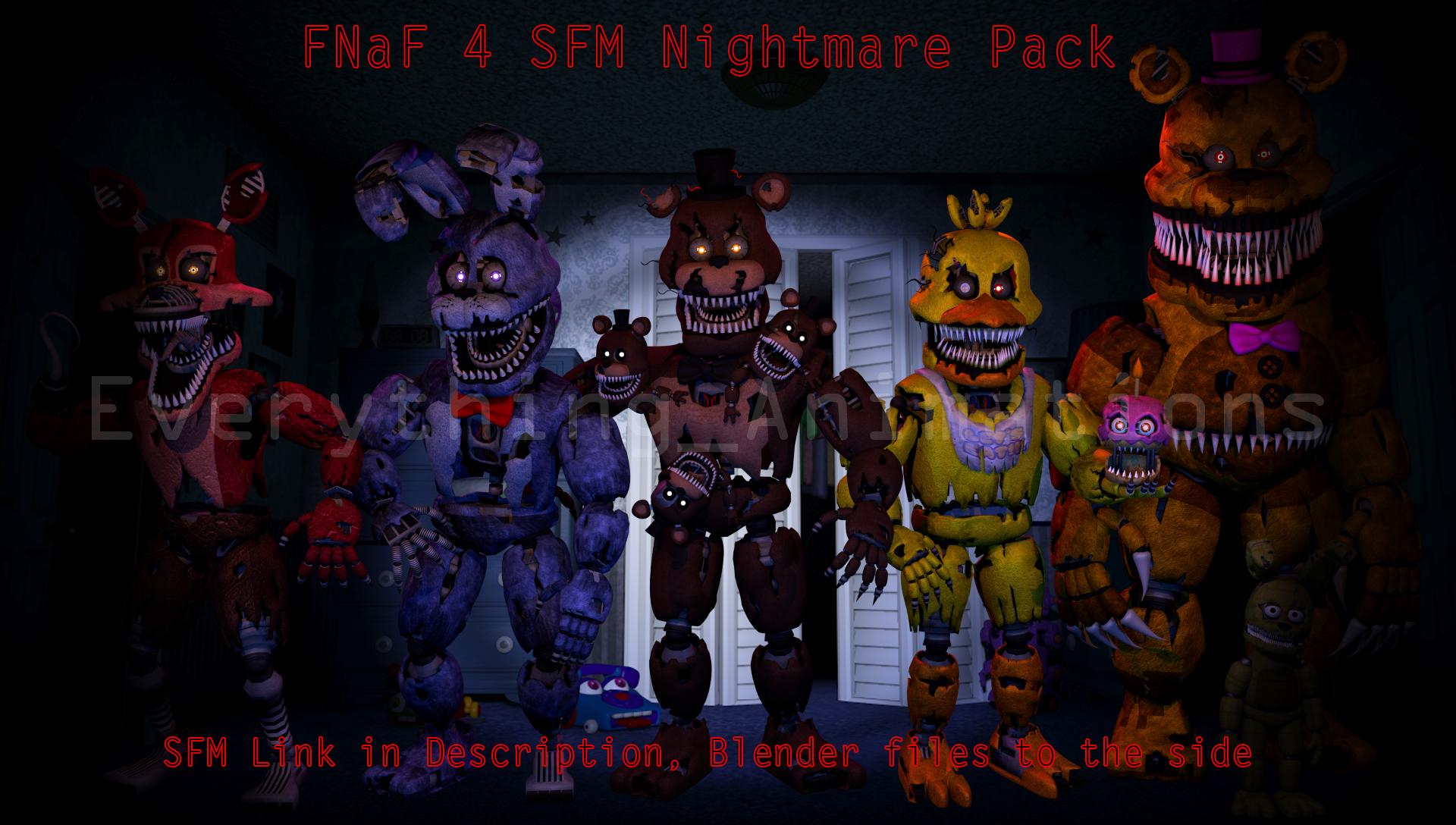 Fnaf 4 sfm pack sfm in des blend files to side by