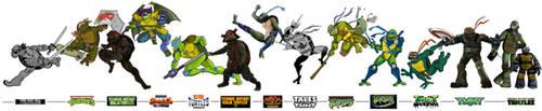TMNT Evolution by BoscoloAndrea