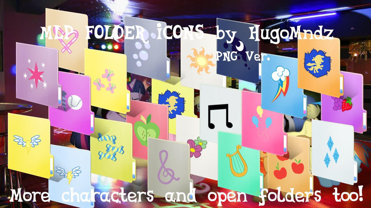 MLP Folder Icons PNG ver. (WILL BE DELETED SOON) by HugoMndz