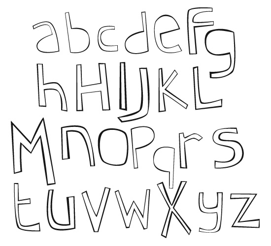Cartoon Alphabet by shope