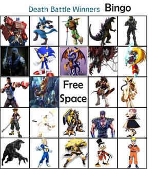 Death Battle Winners Bingo