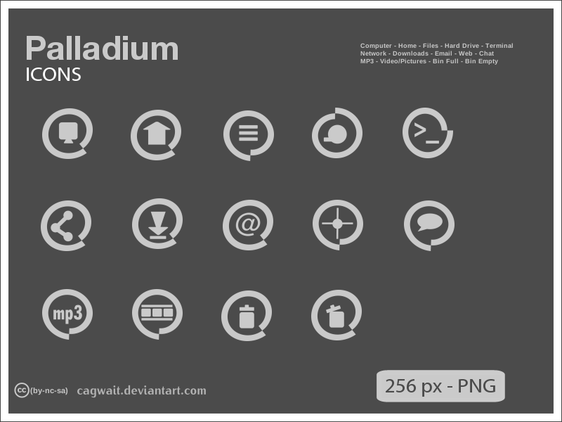 Palladium Icons by cagwait
