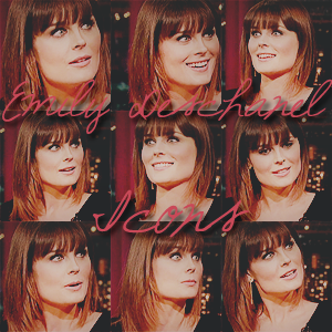 Emily Deschanel Icon pack by LissBlueJays