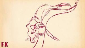 Gazelle 'ooh' rough animation by FluttershytheKind