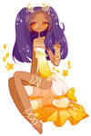 Baby Sunflower Child [ Commission by Fawniive ]