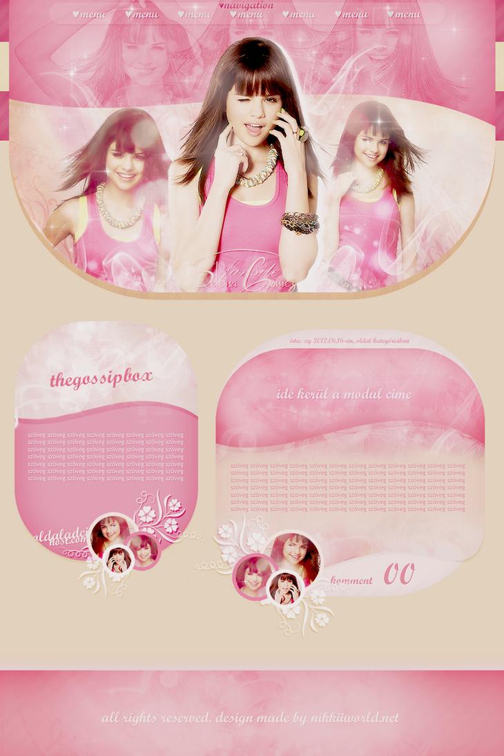 Free Selena Gomez design pack by nikkiivampire