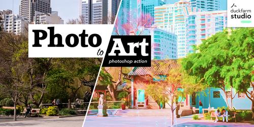 Photo to Art Photoshop Action