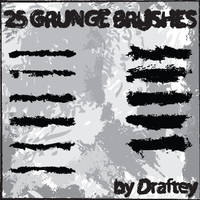 Illustrator Grunge brushes by Draftey