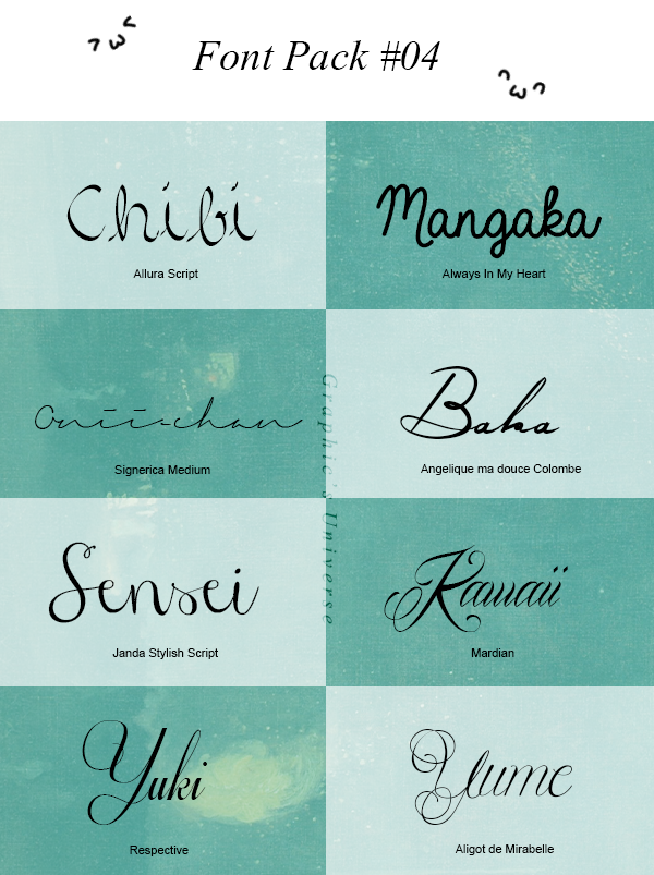 Download Font Pack #04 by GraphicsUniverse on DeviantArt