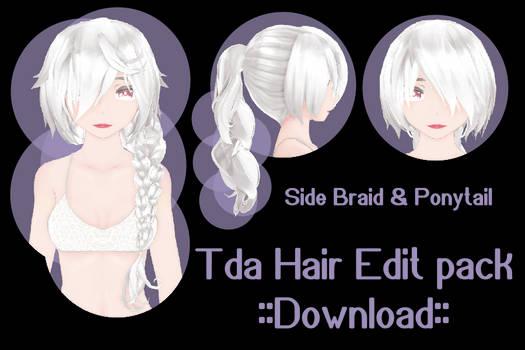 Tda hair edit pack ::download:: (SideBraid : Pony)