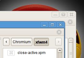 Chromium xfwm4 theme by u01p2109