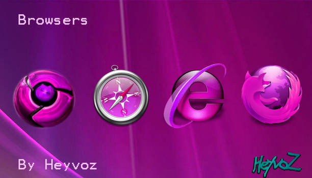 Browsers Pink Icon