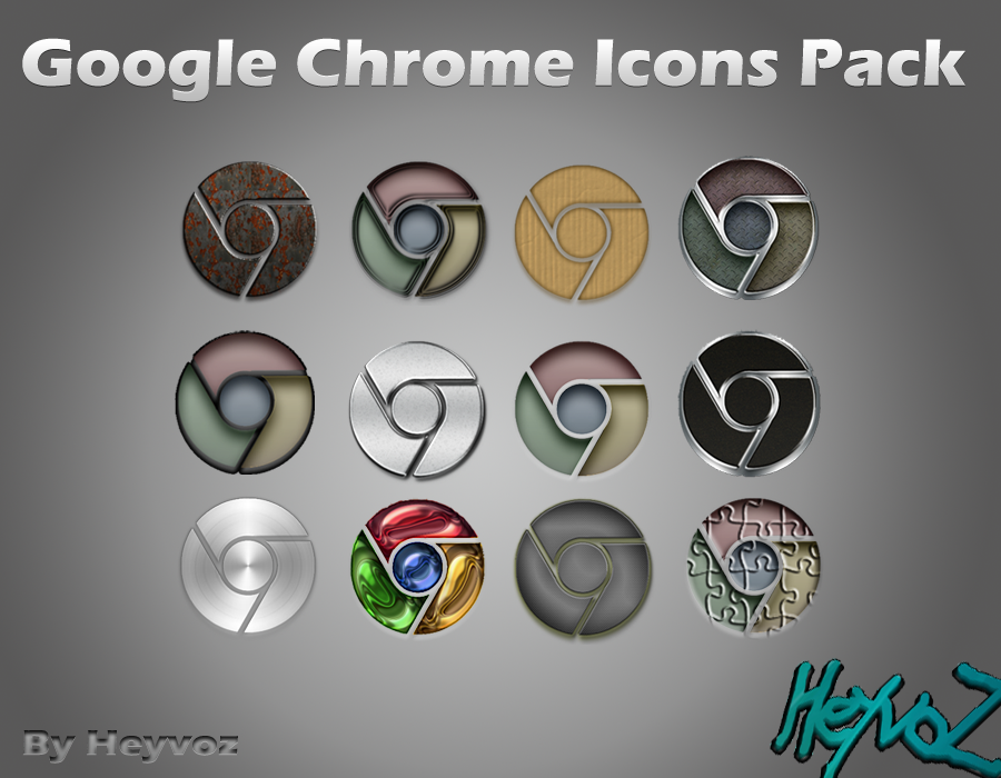 Google Chrome Pack Icons by Heyvoz