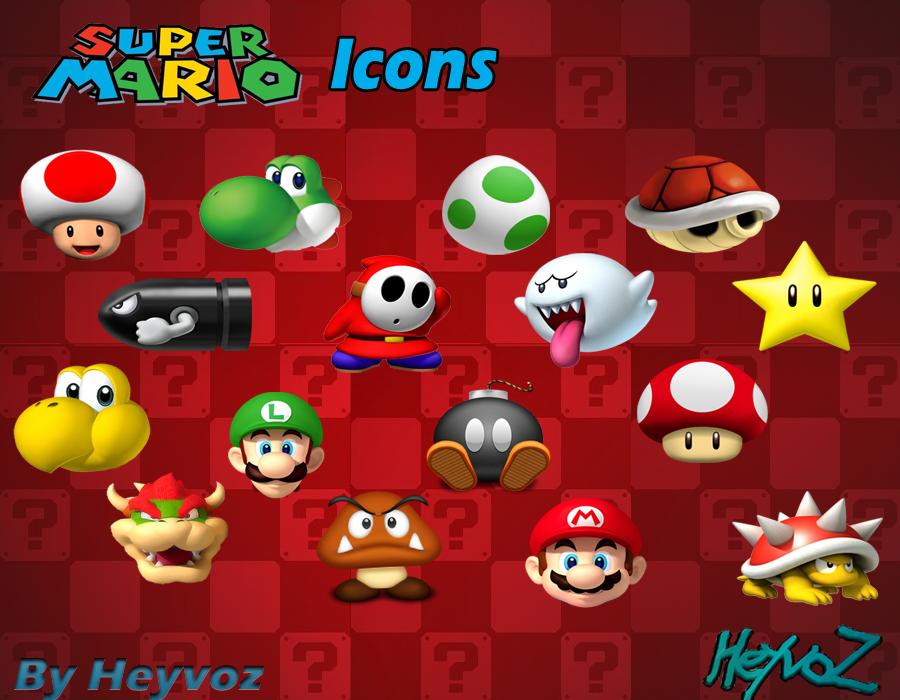 Super Mario Bros Icons by Heyvoz