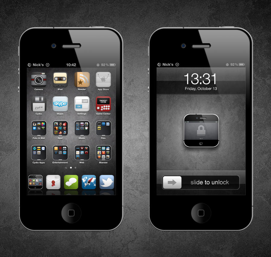 iCourue for iPhone 4 by NickHrh