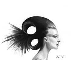 Female Head Study 002 by Luka87
