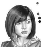 Female Head Study 003 by Luka87