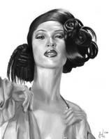 Female Head Study 004 by Luka87