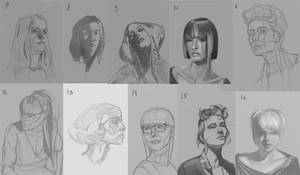 Female Head studies 7-16 by Luka87