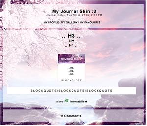 [ Simple Journal Skin 1 ]
