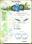 Blue Green Flower Journal