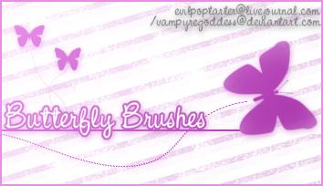 Butterfly Brushes by VampyreGoddess