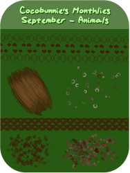 BP: Cocobunnie's Monthly Pack: September - Animals by cocobunnie